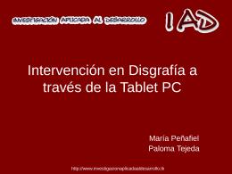 Intervención en Disgrafía a través de la Tablet PC