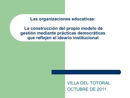 Las organizaciones educativas: la construcción del