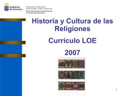 Presentación Currículo Historia y Cultura de las