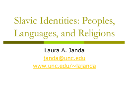 Slavic Identities: Peoples, Languages, and