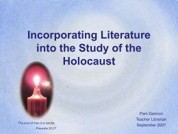 Incorporating Literature Into the Study of the