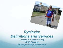 DYSLEXIA - Killeen Independent School District