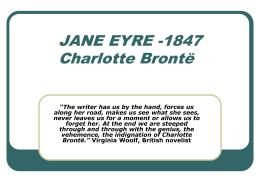 JANE EYRE (CHARLOTTE BRONTË)