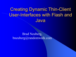 Creating Dynamic Thin-Client User
