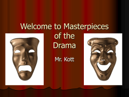 Welcome to Masterpieces of the Drama