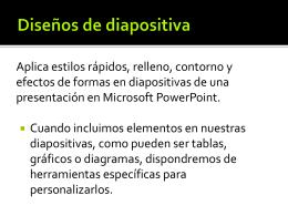 Diseños de diapositiva