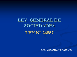 LEY GENERAL DE SOCIEDADES LEY Nº 26887