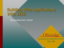 Building Web Applications With J2EE