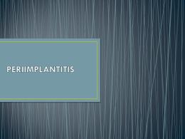 PERIIMPLANTITIS - micro odontología | Blog