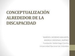 CONCEPTUALIZACIÓN ALREDEDOR DE LA DISCAPACIDAD