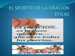 EL SECRETO DE LA ORACIÓN EFICAZ
