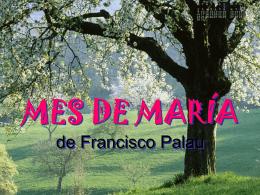 MES DE MARÍA de Francisco Palau