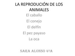 LA REPRODUCIÓN DE LOS ANIMALES