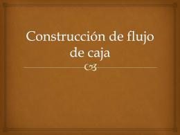 Construcción de flujo de caja
