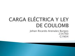 CARGA ELÉCTRICA Y LEY DE COULOMB - fem2012