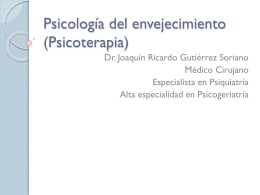 Psicología del adulto mayor (Psicoterapia)