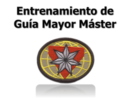 Requisitos de Guía Mayor Máster