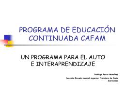 PROGRAMA DE EDUCACIÓN CONTINUADA CAFAM