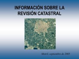 INFORMACIÓN SOBRE LA REVISIÓN CATASTRAL