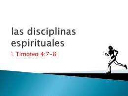 La adoración y las disciplinas espirituales