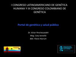 Diapositiva 1 - Genética y Salud Pública |