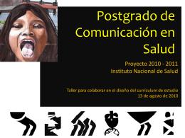 Postgrado de Comunicación en Salud