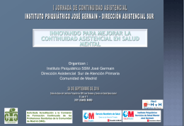 V JORNADAS DE ENFERMERÍA DE SALUD MENTAL COMUNIDAD