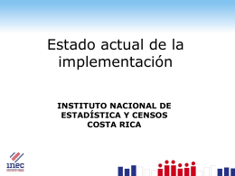 Estado actual de la implementación