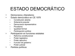 ESTADO DEMOCRÁTICO