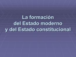 La formación del Estado moderno y del Estado