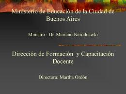 Itinerario Pedagógico de la formación docente. La