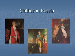 Clothes in Russia