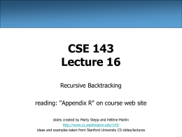 CSE 143 Lecture Slides - Building Java Programs