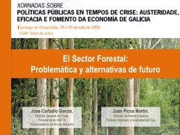 El Sector Forestal: Problemática y alternativas de