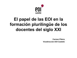 El papel de las EOI en la formación plurilingüe de
