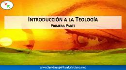 Tema: La Ciencia Teológica