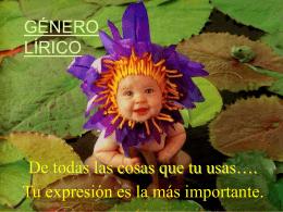 Género Lírico - Francisco Ochoa 2014-2015