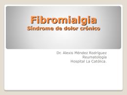 Fibromialgia Síndrome de dolor crónico