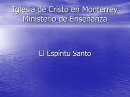 Iglesia de Cristo en Monterrey Ministerio de