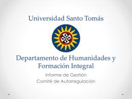 Universidad Santo Tomás Departamento de