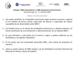 Simposio XBRL Centroamérica / I XBRL Symposium
