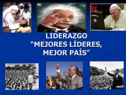 """LIDERAZGO """" MEJORES LÍDERES, MEJOR PAÍS"""""""