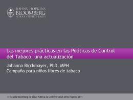 Las mejores prácticas en las Políticas de Control