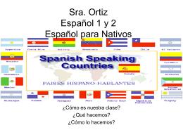 Sra. Ortiz Español 1 y 2