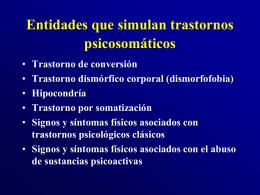Entidades que simulan trastornos psicosomáticos