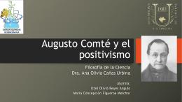 Augusto Comté y el positivismo