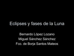 Eclipses y fases de la luna