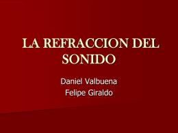 LA REFRACCION DEL SONIDO - Apreciación Sonora -