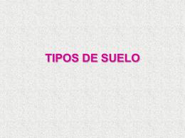 TIPOS DE SUELO - QUÍMICA