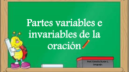 Partes variables e invariables de la oración